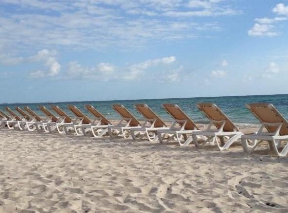 Caribbean Sea from Playa Mujeres Beach